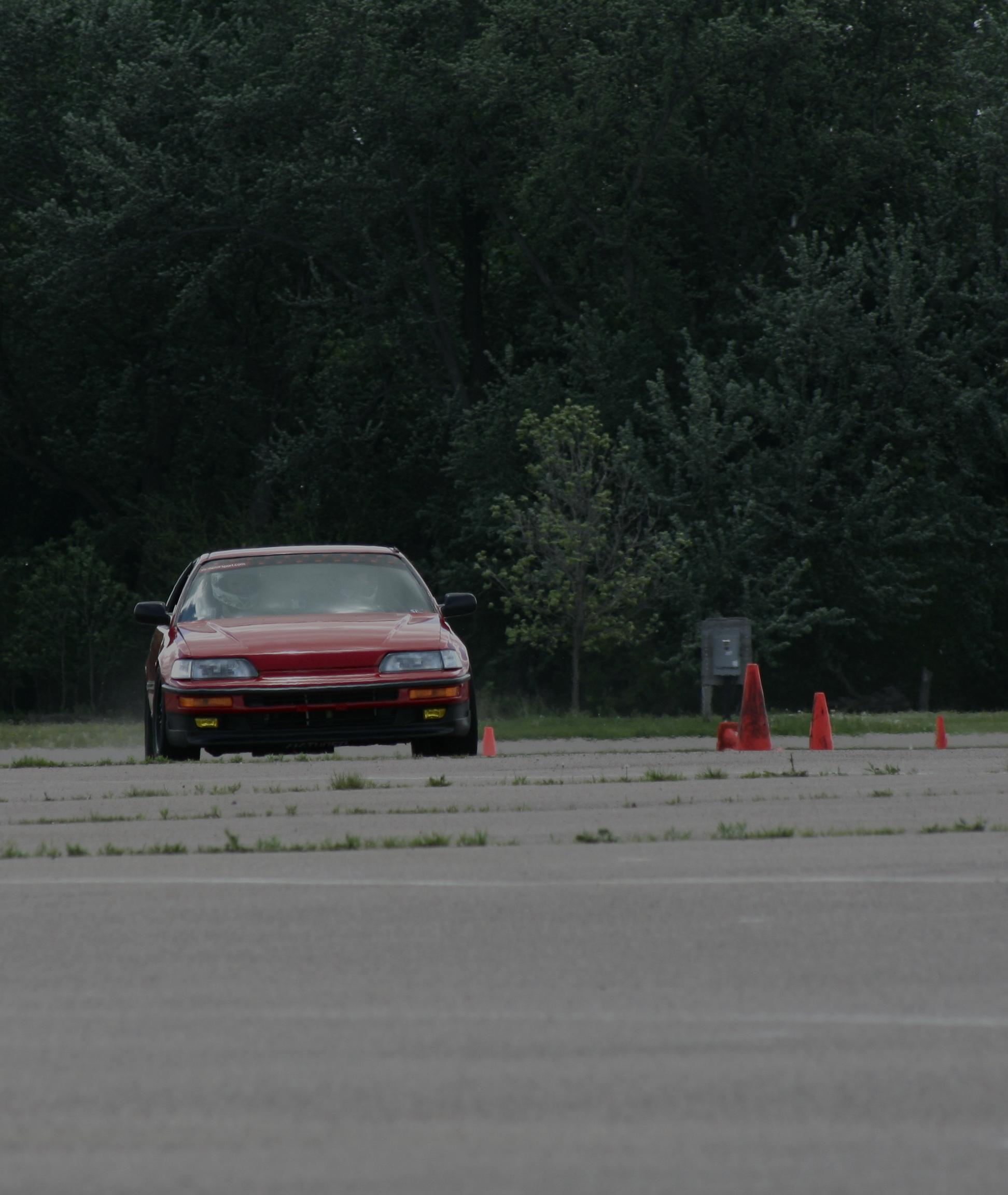 CRX during an Autocross Run